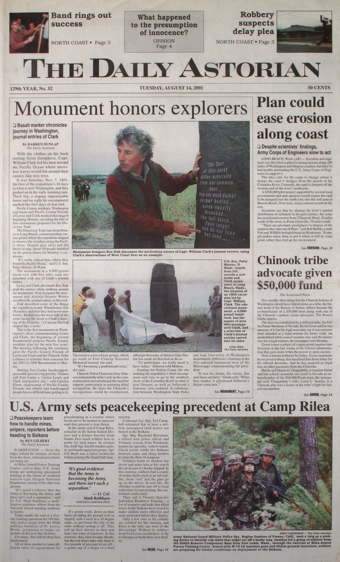 The Daily Astorian August 2001
