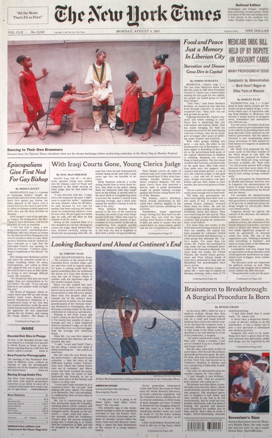 The New York Times August 2003
